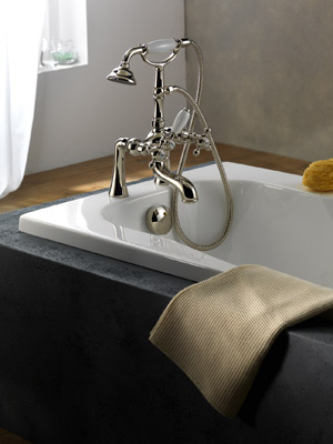 Robinetterie rétro pour baignoire - Modèle Parigi